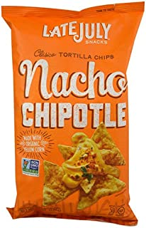 Late July Snacks Clasico Tortilla Chips Nacho Chipotle -- 5.5 oz - 2 pc
