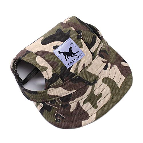MoonyLI Pet Dog Baseball Cap Dog Sunscreen Hat Visor Cap Sports de Plein air Hat réglable Dog Hat, pour Les Chiens Grands, Moyens et Petits