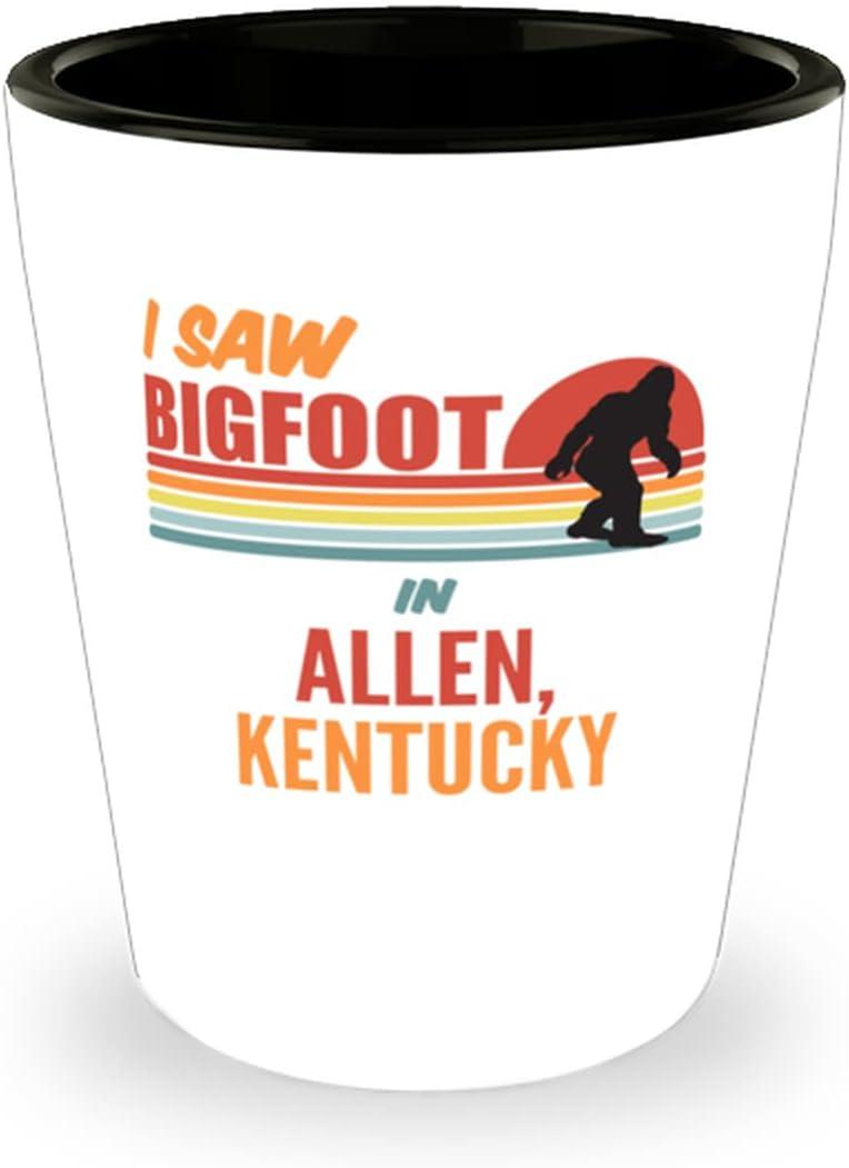 I Bargain Saw Bigfoot In Allen Outlet SALE Glass Kentucky 1.5oz Shot
