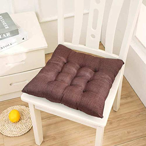 Sitting Cushion,Home Thick Linen Solid Color Chair Cushion-C_40*40cm