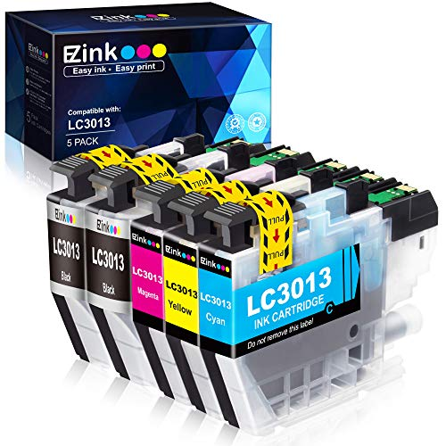 E-Z Ink (TM) Compatible Ink Cartridge Replacement for Brother LC3013 LC-3013 for use with Brother MFC-J491DW MFC-J895DW MFC-J690DW MFC-J497DW Printer (5 Pack with The Latest Upgraded Chips)