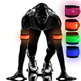 Emmabin [4 Pack LED Slap Armband Lights Glow Band for Running, Replaceable Battery - 4 Mod...