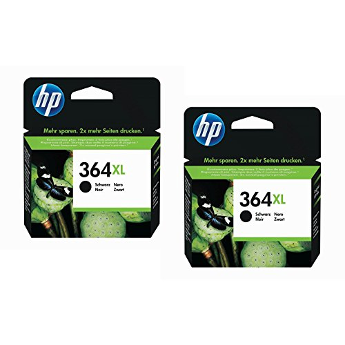 Hewlett-Packard (HP) Original 364 X L Schwarz Twin-Set, für HP Photosmart B8550, B8553, B8558, C6380, C6383, C5324, C5383