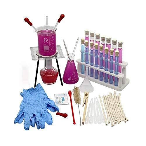 Laboratorio Equipo de vidrio químico básico, probeta de probeta Erlenmeyer Lámpara de alcohol Cabeza de plástico Frasco gotero Experimento Cristalería Materiales para la enseñanza universitaria