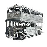 Moutu 3D Metal Puzzle London Bus Modelo Kits I22207 DIY 3D Laser Cut Ensamble Jigsaw Toy