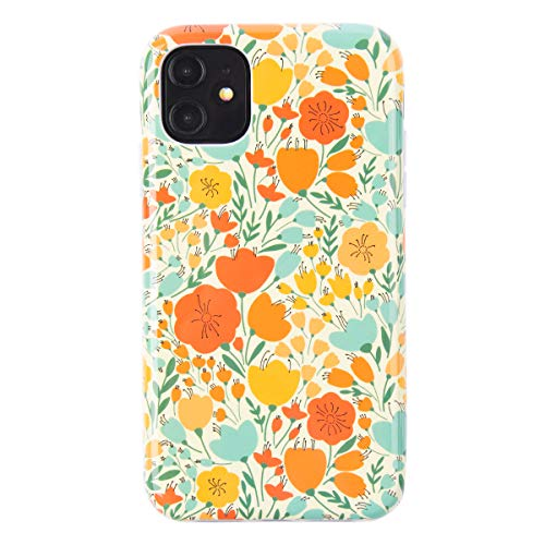 Dimaka iPhone 11 Case Cute Fall Autumn Flower Case for Girls Ultral Slim Thin Drop Proof Design Cover Bumper(Retro Painted Flower