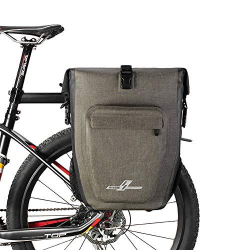 ZZYC 27L Bike la Bici del Bolso Pannier Bolsa para Bicicletas de Carga del Estante de una Silla de Asiento Posterior de la Bicicleta a Prueba de Agua Bolsa portátil Bandolera,Black