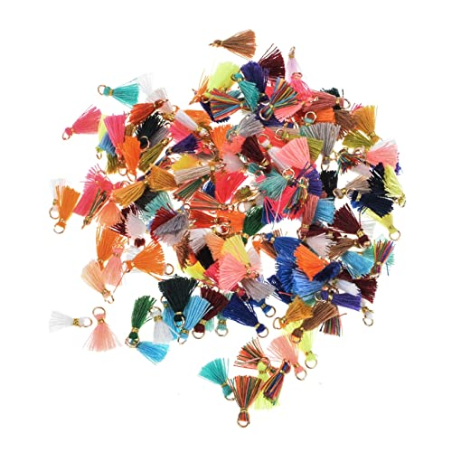 GTUQ Borlas de Color 20 Piezas/Lote de Collar de Pulsera de Color Mixto Mini Borla Hecha a Mano Bricolaje Producir joyería Joyería Hecha a Mano (Color : Yellow)