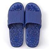 Punta abierta de zapatillas de casa, Pareja de zapatillas de masaje de pies, baños casa antideslizante zapatillas-luz de suela blanda blue_37-38, diapositivas sandalias del dedo del pie abierto de uni