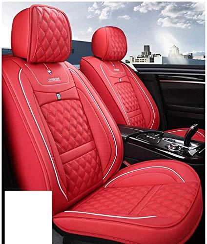 DTTN Fundas para Asientos de Coche Cuero Fundas de Asiento universales Juego de Coche Audi A3/A4/A5/A6/A8/Q3/Q5/RS4(M ercedes-Benz) Clase G GLA 200 2019 Fundas de Asiento Accesorios de Coche,Rojo