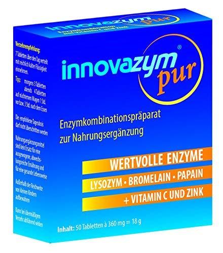 innovazym® pur Multi-Enzym-Komplex, Premium Qualität mit Vitamin C   Von der Medizinischen Enzymforschungsgesellschaft entwickelt  enthält Lysozym + Papain + Bromelain