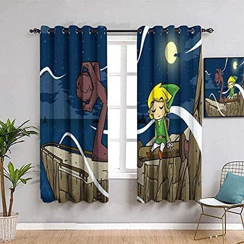 The Legend of Zelda Rideau Occultant Thermique Isolant 66x160 cm Lot de 2 avec Oeillets Isolant Thermique Rideaux pour Enfant Salon Chambre224; Coucher
