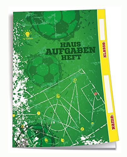 Hausaufgabenheft für Schlaue Fussball: A5, 96 Seiten, mit extra starkem Klarsichtumschlag