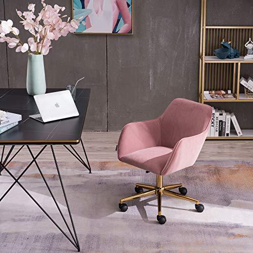 Velvet Office Chair Adjustable 360 Revolving with Universal Wheel Home Office Desk Chair
