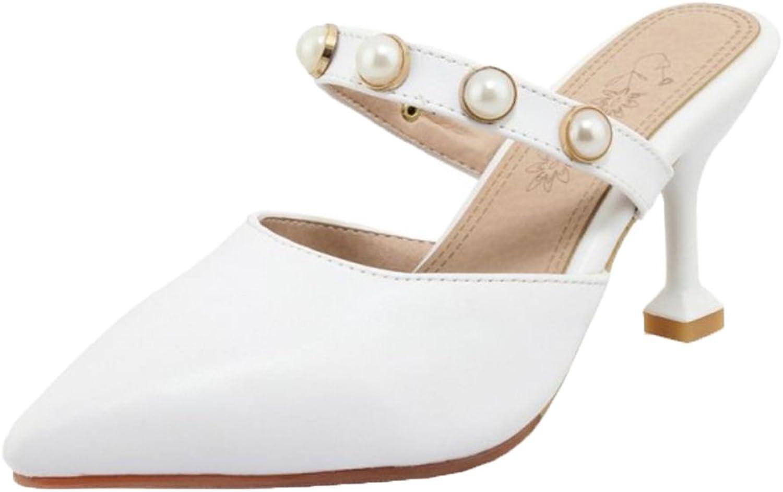 RizaBina Women Summer Closed Toe Mules shoes