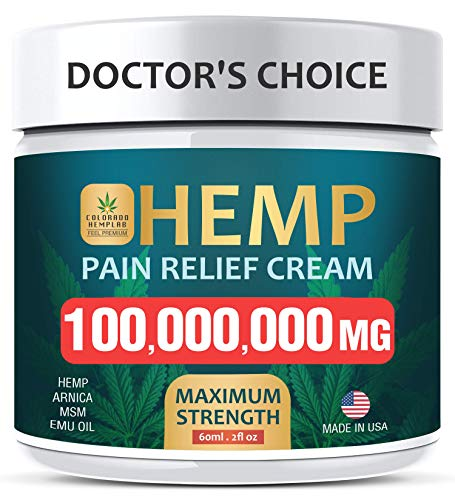 Pain Relief Cream - Maximum Strength 100,000,000 MG - Fast Relief from Pain, Ache, Arthritis & Inflammation - Made & 3rd Party Lab Tested in USA