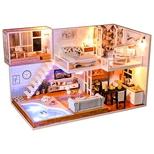 CUTEBEE Miniatura de la casa de muñecas con Muebles, Equipo