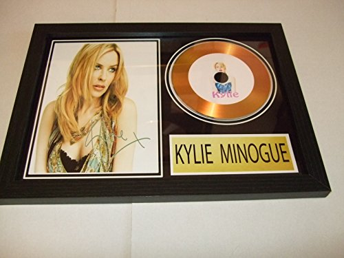 Kylie Minogue autographe disque d'or