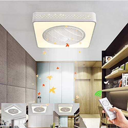 Ventilador de techo con lámparas, ventilador de techo con luz y mando a distancia, moderna lámpara de techo, fuente de luz regulable, 96 W, luz de ventilador para salón, dormitorio, 220 V