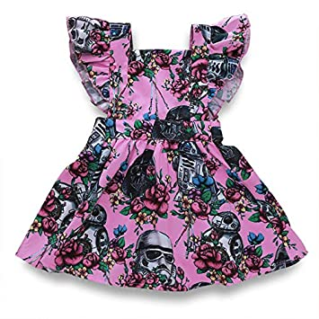 LiLiMeng Infant Baby Girls Sleeveless Floral Lace Doll Collar Princess Dress Jumpsuit Romper Clothes