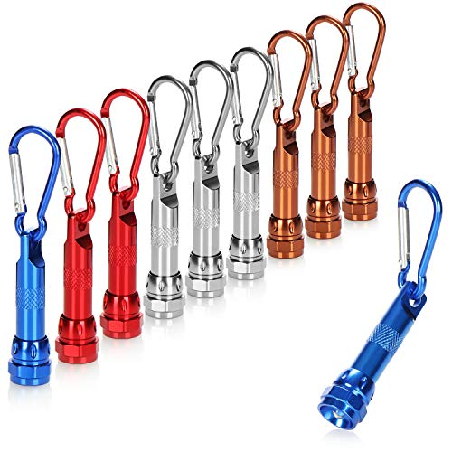 com-four com-four® 10x LED-Mini-Taschenlampe, mit Karabinerhaken Bild