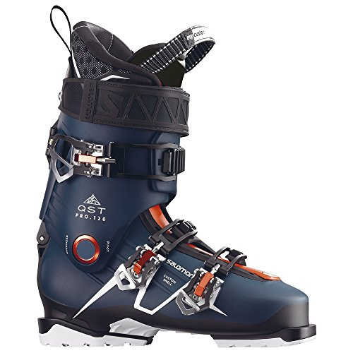 Salomon QST Pro 120 Ski Boots - 26.5/Petrol Blue-Black-Orange