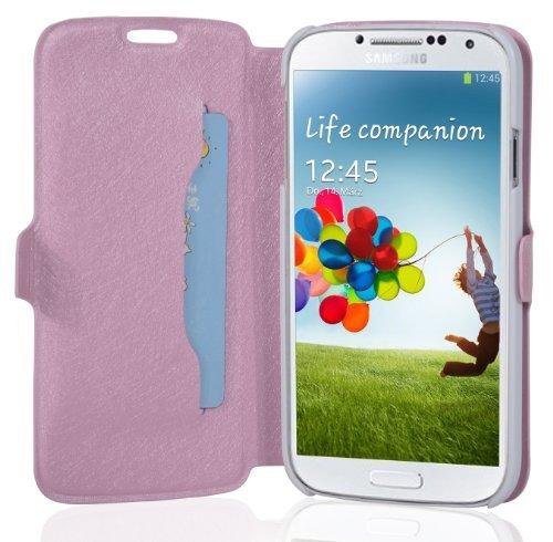 Cadorabo - Funda Book Style en Diseño Fino para Samsung Galaxy S4 GT-I9500 / I9505 – Etui Case Cover Carcasa Caja Protección con Tarjetero y Función de Soporte en Fucsia