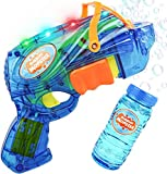 AOLUXLM Portátil Máquina de Burbujas Burbujas jabon niños Pistolas Juguete liquido para pompas Juguetes Divertidos Interior Exterior Regalos Originales Niños