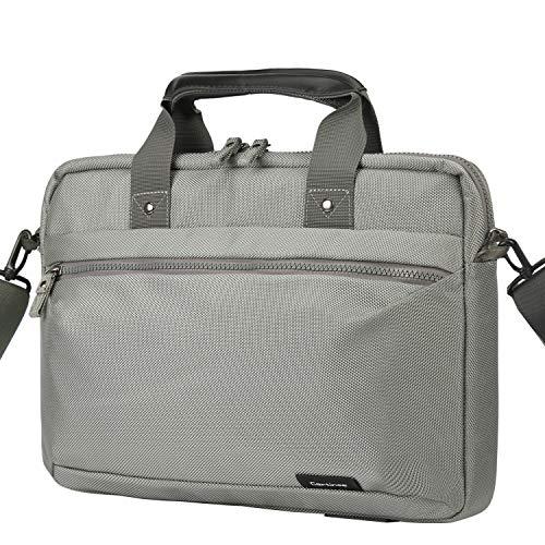Cartinoe Laptop Bag 15.6 Inch Briefcase Shoulder Messenger Bag Water Repellent Laptop Bag Satchel Tablet Business Carrying Handbag Laptop Sleeve for MacBook Pro 15 Case for Women and Men, Grey