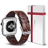 ICHECKEY Ersatz Armband Kompatibel für iWatch 38mm Leder Uhrenarmband iWatch Klassische...