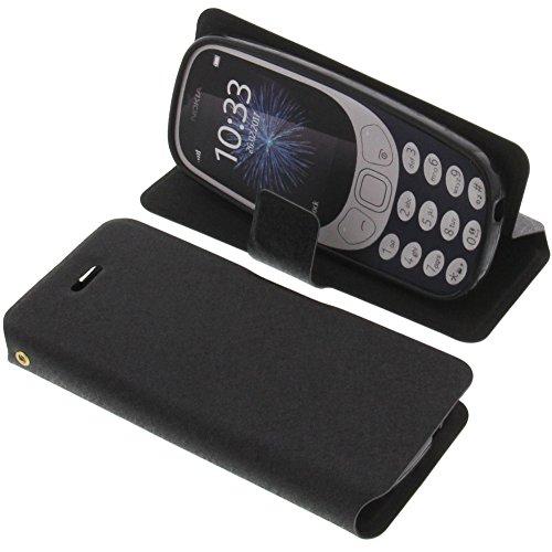 Tasche für Nokia 3310 (2017) Book Style schwarz Schutz Hülle Buch