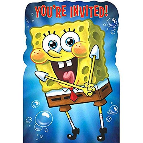 SpongeBob SquarePants Birthday Party Invitations