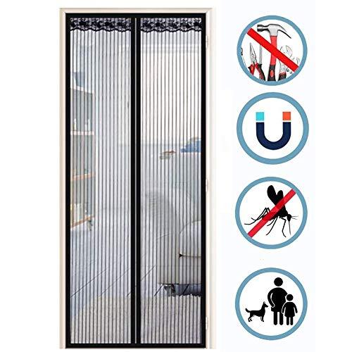 Magnetische Mesh Screen Door Franse deuren, Heavy Duty magneten en Curtain Geen Geluidsniveau eenvoudig te installeren, Anti Mosquito, Keep Bugs eruit, laat de frisse lucht, for glazen/garage