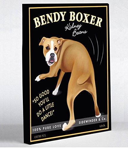 One Bella Casa 11161WD8 Bendy Boxer Canvas by Retro Pets, 8