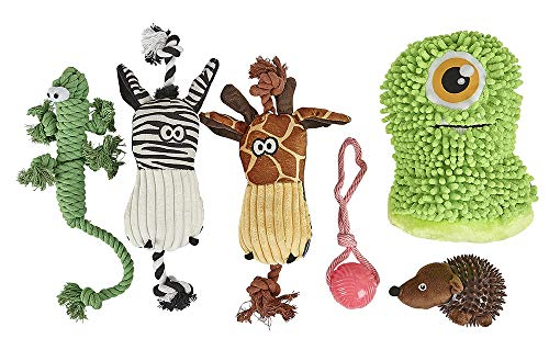 Good Boy Fun And Entertaining Dog Toy 6 Pack contenente Giocattoli per coccolare, Prendere e Giocare a tuggy.