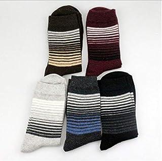 5 pares de calcetines de algodón de algodón gruesos de algodón gruesos casuales clásicos de los hombres calcetines de invierno de los hombres modelos
