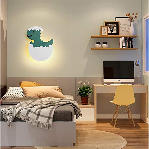 7W LED Wandleuchte Modern Design Kind Schlafzimmer Wandlampe Kreativität Dinosaurier,Küken Nachttischlampe Karikatur Junge Mädchen Zimmer Innenbeleuchtung Acryl Nachtlicht 25*19*4CM,Dinosaur 6000k