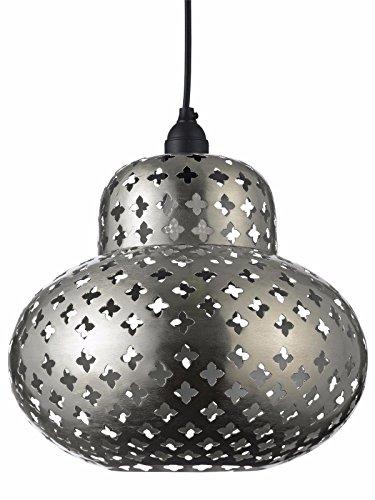 Designer Heine Tisch-Lampe / Pendelleuchte Silberfarben H/ø ca. 32/30 cm Chrome