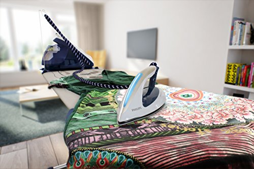 Philips PerfectCare Elite Steam Generator Iron for Medium Family Basket Loads, with OptimalTEMP: No Fabric Burns Guaranteed, 6.7 Bar, 470 g Steam Boost, Navy - GC9630/20