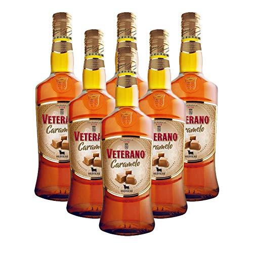 Licor Veterano Caramelo de 70 cl - D.O. Jerez - Bodegas Osborne (Pack de 6 botellas)