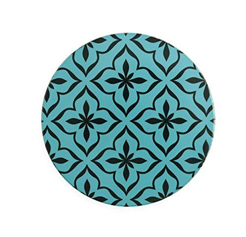 Villa d'Este Glamour Sottomacchinetta, Ceramica e Sughero, Multicolore, 1x1x0.6 cm