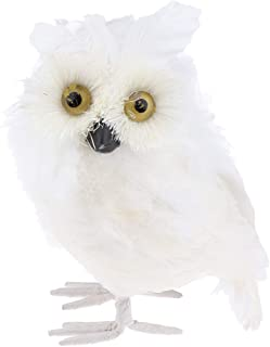 Baoblaze Realistic Plush Owl Decor, Kids Educational Nature Toys, 7'', White