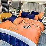 juego de ropa de cama 160x200,Juego de nórdices de verano bordado de seda, sábanas de cama con diapositivas ligeras cómodas con funda de almohada, dan el regalo de la madre del hogar-Di_Cama de 2.0m