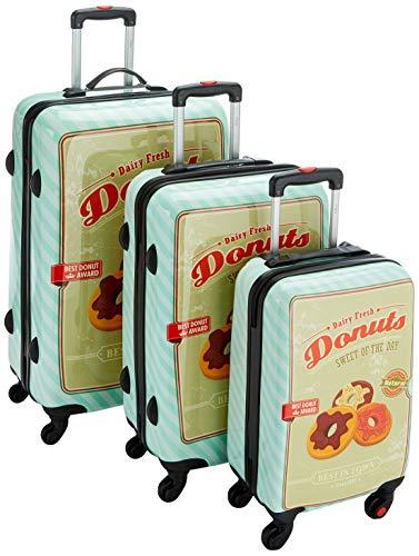 F|23 3-TLG. Hartschalen Trolley-Set, TSA-Schloss, 70 + 60 + 50 cm, ABS/PC, Donut, Mint, 77051-7