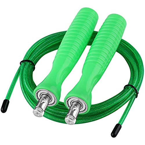 Andouy Springseil Speed Rope, Springseil Boxen, Springseil Sport Kinder, Springseil Kinder Speed Rope, Springseil Sport,Verstellbares Speed Rope Seilspringen(3M.Grün)
