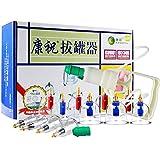 Conjuntos ahuecando el Cristal de Fuego de catación tarros Set Profesional Terapia China, aplicación de ventosas de vacío médico con succión Tratamiento con Bomba de succión Configurar el Dispositivo