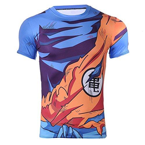 Super Saiyajin Cosplay T-Shirt | Goku Kostüm für Dragon Ball Fans | Größe: S