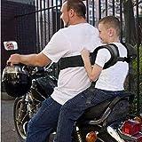 BOLLAER Kinder-Motorrad-Sicherheitsgurt, verstellbarer Motorrad-Sicherheitsgurt für Kinder, fester...