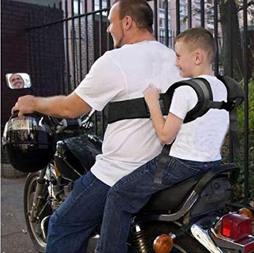 BOLLAER Kinder-Motorrad-Sicherheitsgurt, verstellbarer Motorrad-Fahrrad-Sicherheitsgurt für Kinder, fester Kindersitz, schützt Kinder vor Stürzen