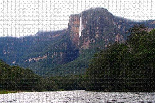 Venezuela Angel Falls Venezuela rompecabezas para adultos 1000 piezas rompecabezas de madera 3d para adultos